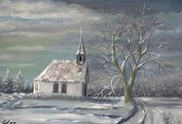 Neudorfer, Kapelle, Winter, Malerei