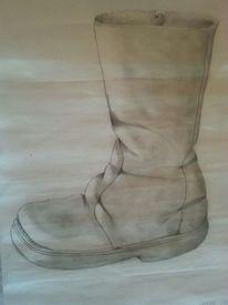 Schuhe, Bleistiftzeichnung, Stiefel, Zeichnungen