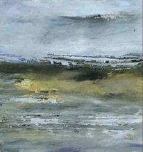 Grau, Landschaft, Bewölkt, Meer