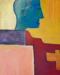 Malerei, Mann, Sicht