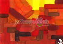 Gelb, Rot, Karte, Nachricht