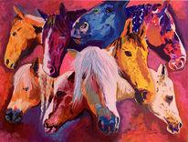 Gestüt, Freunde, Gemälde, Tiere