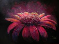Gemälde, Blumen, Lichtstrahlen, Blütelila