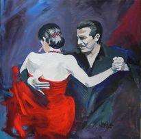 Argentino, Tango, Tanz, Malerei