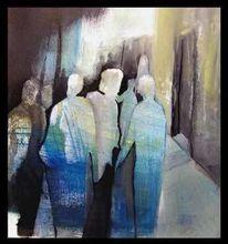 Menschen, Unterwegs, Fremd, Malerei