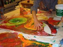 Kreativ, Kreative workshops, Werkstatt, Actionpainting