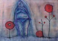 Wunderland, Naiver crtoonismus, Aquarellmalerei, Alice in wonderland