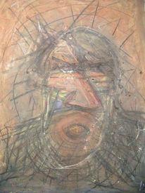 Schrei, Brüller, Wut, Malerei
