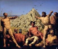 Krieg, Angst, Apotheose, Cornelis van haarlem
