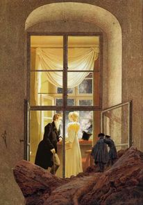 Caspar david friedrich, Kersting, Fenster, Hubble