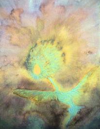 Aquarellmalerei, Phönx, Feuervogel, Aquarell