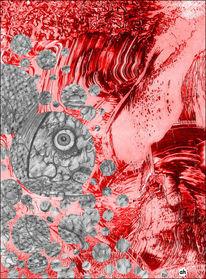 Traum, Erkältung, Grippe, Illustrationen