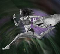 Sport, Bleistiftzeichnung, Frau, Fotografie