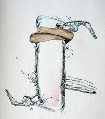 Arm, Cola, Tropfen, Wasser
