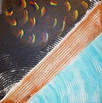Spuren, Suche, Abstrakt, Acrylmalerei