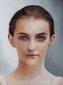 Gemälde, Ölmalerei, Portrait, Steg