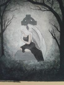 Baum, Engel, Sehnsucht, Trauer