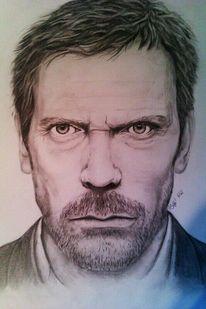 Zeichnung, Grafik, Bleistiftzeichnung, Portrait