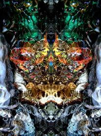 Farben, Licht, Spiegelung, Meditation