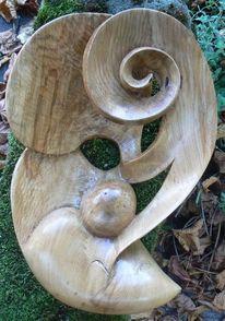 Holz, Eichen, Spirale, Fantasie