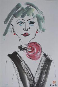 Zeichnung, Zirkus, Tuschmalerei, Malerei