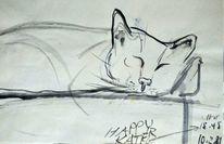 Skizze, Tuschmalerei, Japantusche, Zeichnung