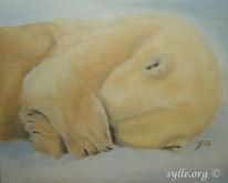 Malerei, Tierwelt, Eisbär