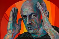 Acrylmalerei, Porträtmalerei, Zeitgenössisch, Popart