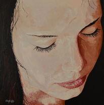 Malerei, Realismus, Portrait, Acrylmalerei