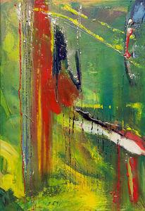 Gelb, Abstrakt, Feuer, Grün