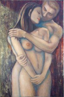 Erotik, Menschen, Liebe, Umarmung