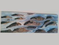 Ölmalerei, Bach, Malerei, Natur