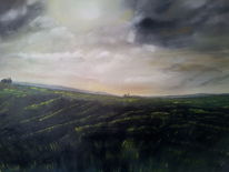 Ölmalerei, Wind, Feld, 2012