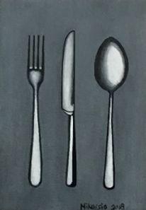 Besteck, Gabel, Messer, Löffel