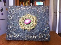 Ostern, Acrylmalerei, Nest, Pigmente