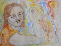 Bruder, Karikatur, Aquarellmalerei, Tuschmalerei