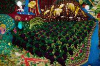 Landschaft, Trauben, Textilkunst, Natur