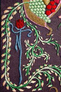 Ballerina, Rose, Tänzer, Textilkunst