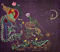 Tänzer, Universum, Blumen, Fantasie