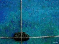 Peloponnes, Felsen, Malerei, Blau