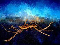 Ölmalerei, Blau, Alberese, Malerei