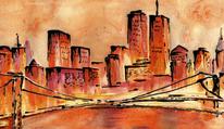Stadt, Landschaft, Architektur, Abstrakt