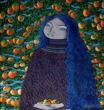 Götterspeise, Asien, Frau, Früchte