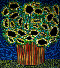 Still leben, Sommer, Strauß, Sonnenblumen
