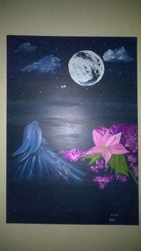 Engel, Geheimnissvoll, Nacht, Malerei