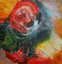 Abstrakt, Tusche, Pflanzen, Acrylmalerei