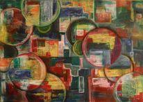 Acrylmalerei, Kreis, Eckig, Pastellmalerei
