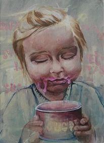 Jung, Zucker, Eis, Mädchen