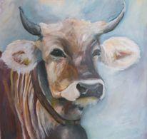 Bauernhof, Tierpotrait, Acrylmalerei, Tiere
