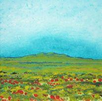 Wiese, Natur, Landschaftsmalerei, Blumen